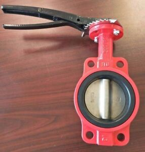 2 Inch Butterfly Valve 200psi Di Body Stainless Steel 316 Disc Viton Seat