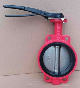 6 Inch Butterfly Valve Wafer Type 200psi Ductile Iron Body Di Disc Buna n Seat