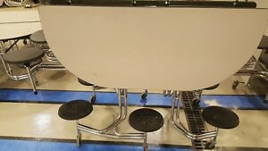 Cafeteria Round Folding Tables Excellent Condition 2 Total Temp Price Drop