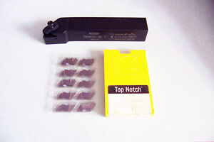 New Tnsr16 3d 1 Top Notch Grooving Threading Tool Holder W 10 New Inserts
