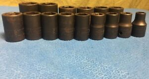 Snapon 315immya 10mm 24mm 1 2 Shallow Impact Socket Set Most Never Used