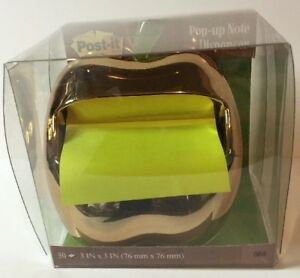 Genuine Sealed Oem Post it Gold Apple Pop up Note Dispenser For 3 X 3 inch Notes