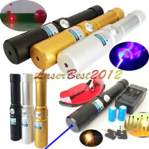 2w Bx6 450nm Blue Laser Pointer Burn Matches Light Cigarettes Pop Balloons