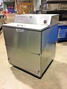 True Mobile Milk Cooler Tmc 34 s ss Cold Drink Flip Top Soda Beer Storage 2