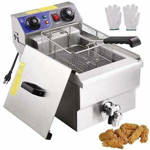 Commercial Electric Deep Fryer Stainless Steel Presto Basket French Fry Maker
