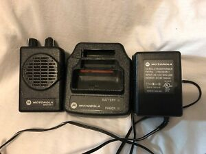 Vhf Motorola Minitor V 5 Pager Stored Voice 2 Channel Pager Battery