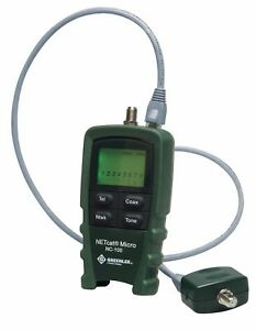 Greenlee Communications Netcat 100 Cable Tester Display Lcd Adapter Type Rj 45