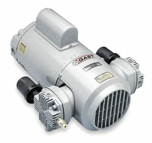 Gast 1 2 Hp Piston Air Compressor vacuum Pump 115 230vac 50 50 Max Psi
