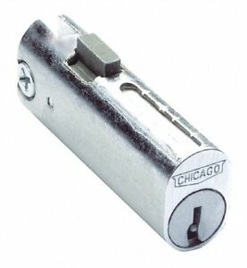 Compx Chicago Rectangular File Cabinet Lock With Chrome Finish Keyed Different
