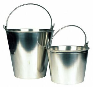 Conbar 9 Qt 304 Stainless Steel Pail Silver Silver 304 Stainless Steel