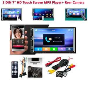 2 Din 7 Inch Car Hd Touch Screen Stereo Radio rear Camera Mp3 Mp5 Android Ios