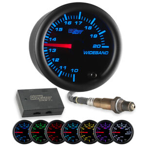 Glowshift Black 7 Color Needle Wideband Air fuel Ratio Afr Gauge W Data Logging