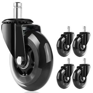 Office Chair Caster Wheels Roller Rollerblade Style Castor Wheel Replacement S3