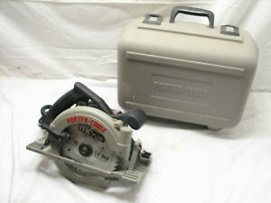 Porter Cable Model 347 7 1 4 Circular Saw 15 Amp W hard Case Heavy Duty Type 1