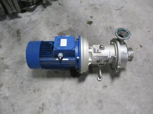 Hilge 4 1 2 Stainless Sanitary Pump With Motor 11131241c used