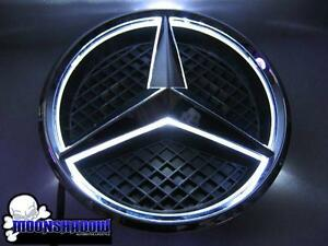 11 15 Mercedes Benz Led Illuminated White Front Star Grill Emblem Badge E Class