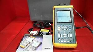 Fluke 105b 100mhz Scopemeter Series Ii In Case
