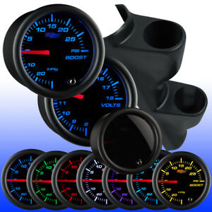 Glowshift Tinted 7 Color Dual Pillar 52mm Gauge Package For 93 97 Honda Del Sol