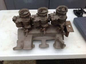 Ford Y Block Offenhauser 3x2 Intake With Carbs