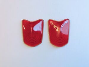 Antique Red Glass Tail Light Lens 367 Set Of 2