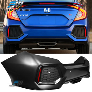 Fits 16 20 Honda Civic 10th Gen Si Style Rear Bumper Cover Conversion