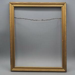 Vintage 13 X 16 Gold Wood Picture Frame