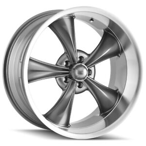 Staggered Ridler 695 Front 18x8 Rear 18x9 5 5x127 5x5 0mm Grey Wheels Rims