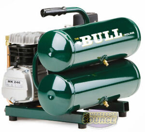 Hand Carry Portable Dual Tank 2 Hp Rolair Bull Air Compressor Single Stage New