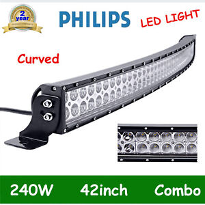 42inch 540w Curved Led Light Bar Tri row Combo Off Road Fog Driving 7d Pk 40 44