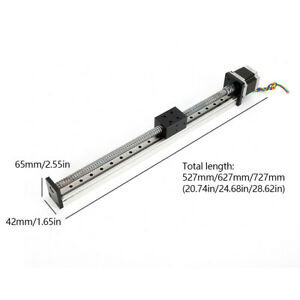 Ball Screw Cnc Linear Actuator Axis Rod Slide Stroke Nema 23 Motor Long Stage Us