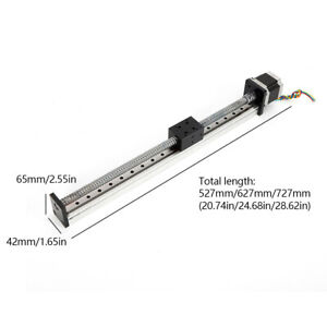 Ball Screw Rod Linear Cnc Axis Slide Stroke Long Stage Actuator Nema 23 Motor Us