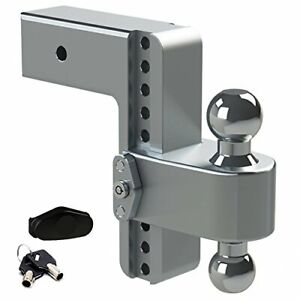 180 Hitch Aluminum Ball Mount W stainless Balls 3 Hitch 8 Drop 9 Rise Ltb8 3