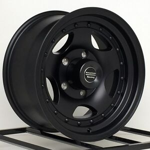 14 Inch Black Wheels Rims 5x4 5 Lug Jeep Wrangler Ford Ranger Mustang Ar23 New