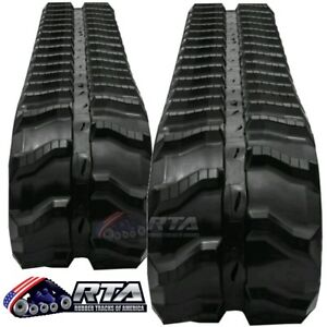 Two Rubber Tracks Fits Bobcat Mt50 Mt55 180x72x39 Free Shipping
