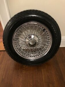 Jaguar Xke E type Series 2 Chrome Wire Wheel And New Roadmaster Tire