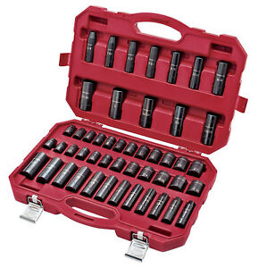 Craftsman Impact Socket Set 48 Piece With Laser Etcher Torque Socket