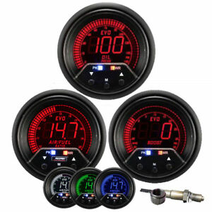 Prosport 52mm Evo Wideband Air Fuel Ratio Boost Oil Pressure Gauge Kit