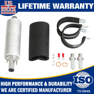 Gsl392 Universal External High Flow Pressure Fuel Pump Inline 255lph With Kit