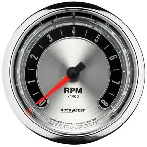 Autometer 1298 American Muscle Tachometer 3 3 8 8000 Rpm