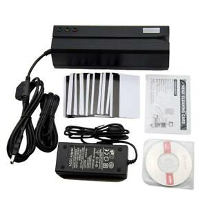 upgraded Msr606 Msr606i Magnetic Credit Card Reader Writer Encoder 3 track