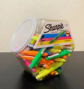 Sharpie Accent Mini Highlighters 72 Count yellow Blue Green Orange Pink