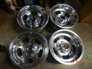 Vintage Polished 15x8 5 Slot Mag 6 lug Wheels Chevy gmc Truck Van Toyota Datsun