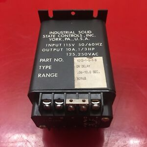 Industrial Solid State Controls 1013 1g1b On Delay Timer