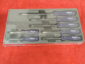 Snap On 7 Pc Screwdriver Set In A Tray Purple Handles Sddx70adp New