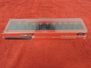 Snap On 311imya 1 2 Drive Standard 3 8 1 6 Point Shallow Impact Socket Set New