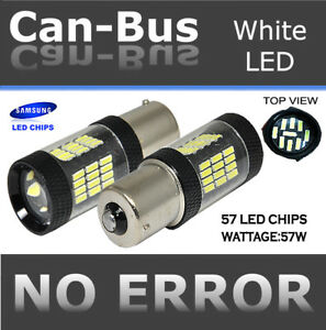 Samsung Canbus Led 1156 57w Projector Lense White Xenon Backup Light Bulbs K47