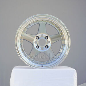 4 Rota Wheel Kyusha 17x9 4x114 3 10 Full Polish Silver