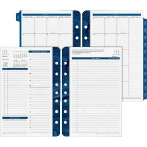Franklin Covey Classic Monticello Dated Two page per day Planner Refill 5 1 2 X