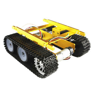 Perfeclan Tracked Car Tank Chassis Kit 9v Coded Dc Motor For Arduino Diy
