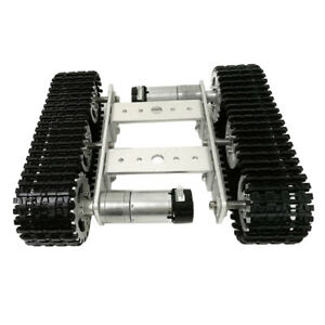 Perfeclan Tracked Vehicle Car Tank Chassis Kit 9v Dc Motor For Arduino Diy